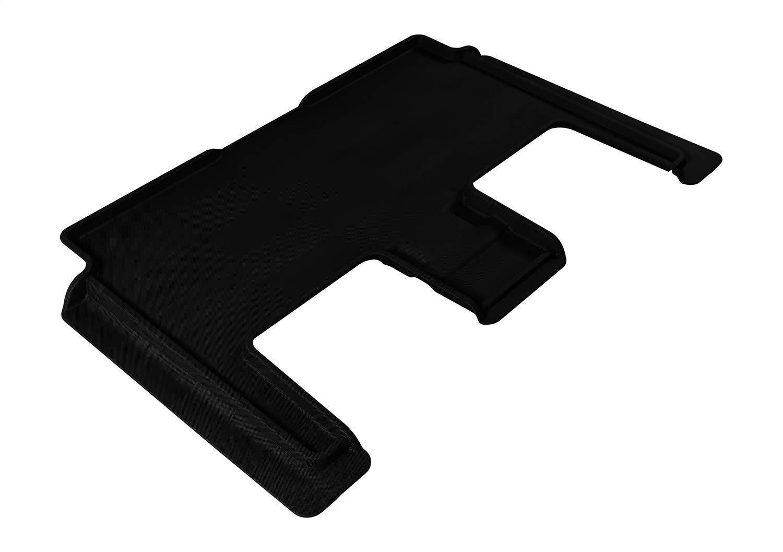 3D MAXpider Second Row Custom Fit All-Weather Floor Mat for Select Dodge Grand Caravan Models - Kagu Rubber (Black)