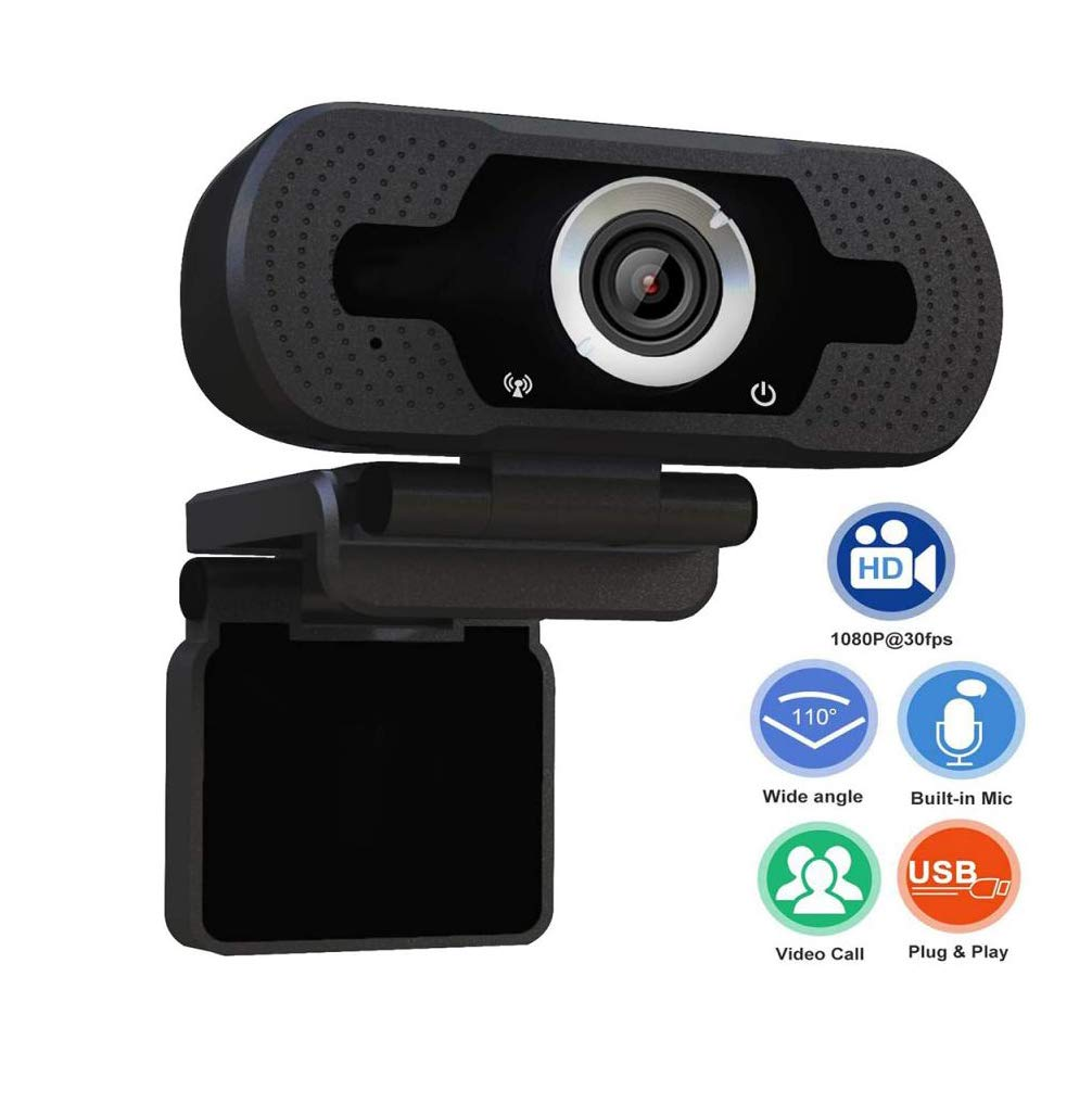 FW ZONE Webcam Full HD 1080P with Microphone,USB Computer Camera for PC Laptop Desktop Mac Streaming Video Calling Recording Conferencing