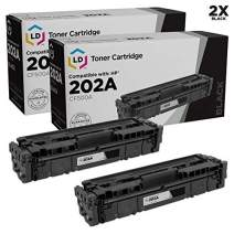 LD Compatible Toner Cartridge Replacements for HP 202A CF500A (Black, 2-Pack)