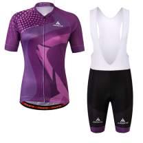 MILOTO Women's Cycling Jersey White Bib Shorts Set Breathable Biking Suits