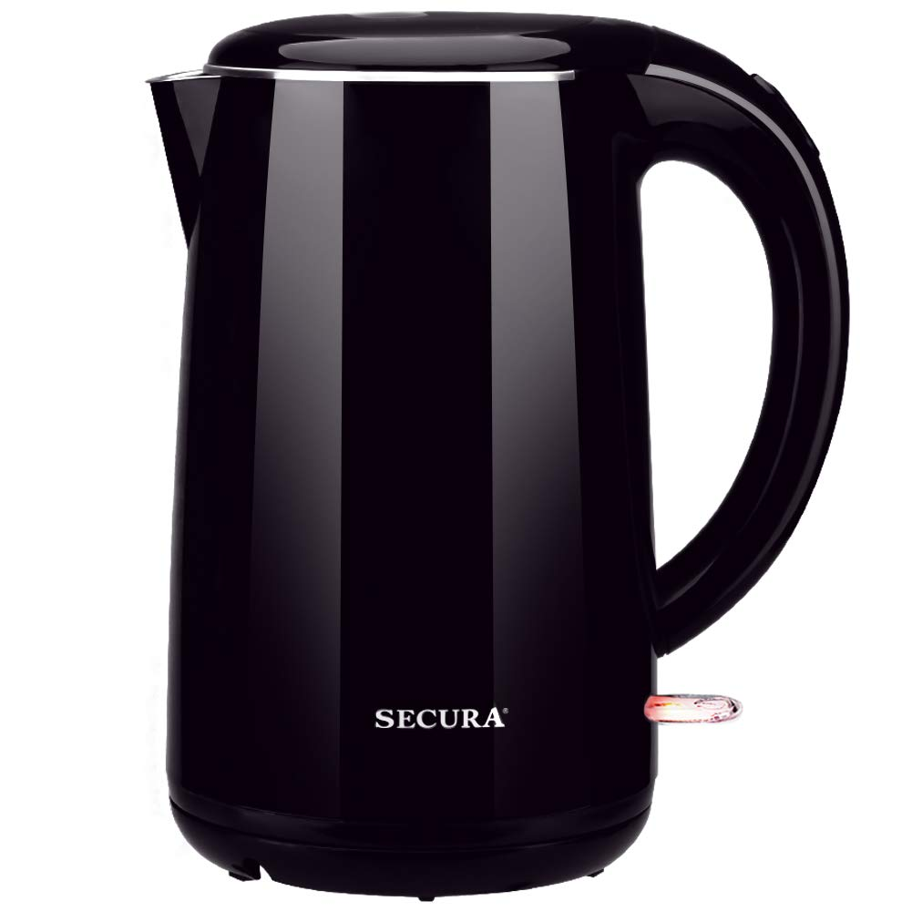 Secura SWK-1701DB The Original Stainless Steel Double Wall Electric Water Kettle 1.8 Quart, Dark Purple