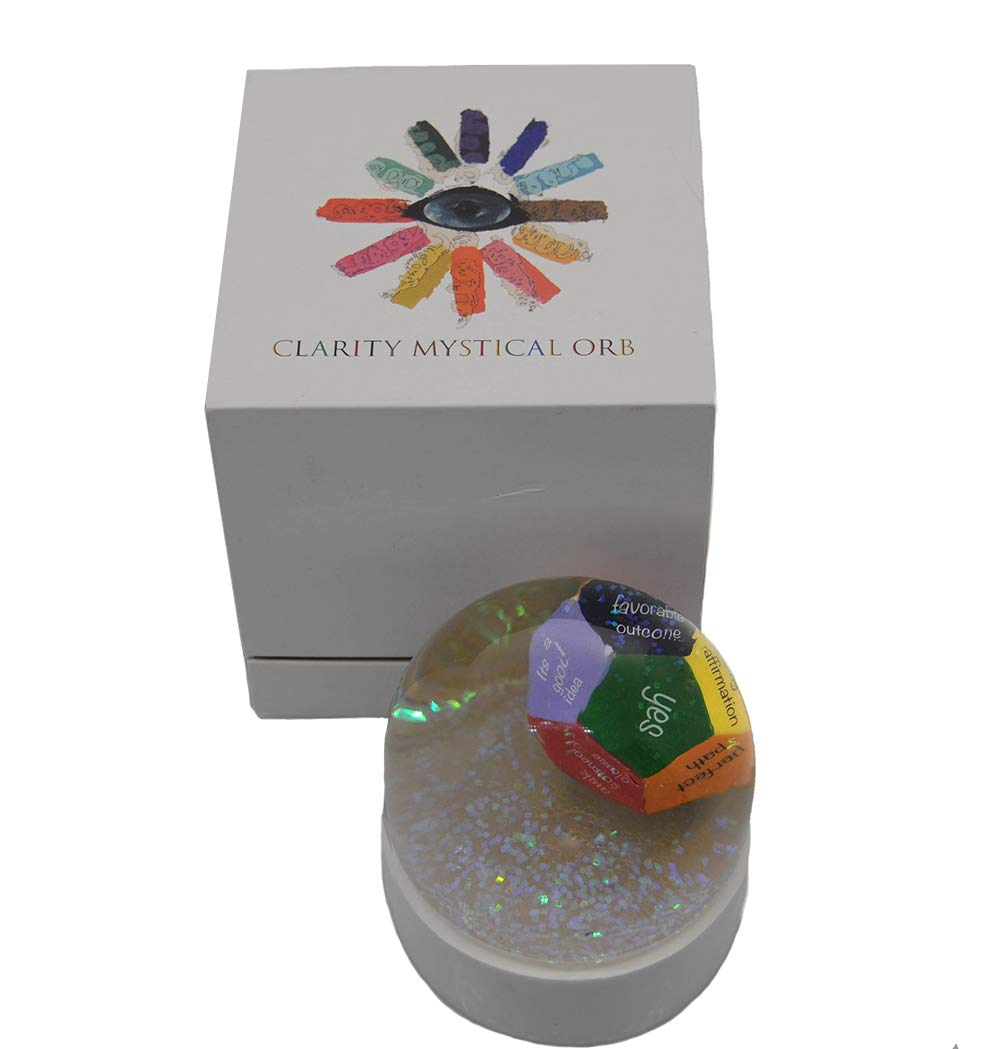 Clarity Mystical Orb, Chakra Dice Roller, Fortune Telling, Divination Tool/Next Generation Magic 8 Ball, Ask a yes and no question, 12 Color Coded Answers