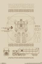 "Trends International Transformers Sketch Wall Poster 22.375"" x 34"""
