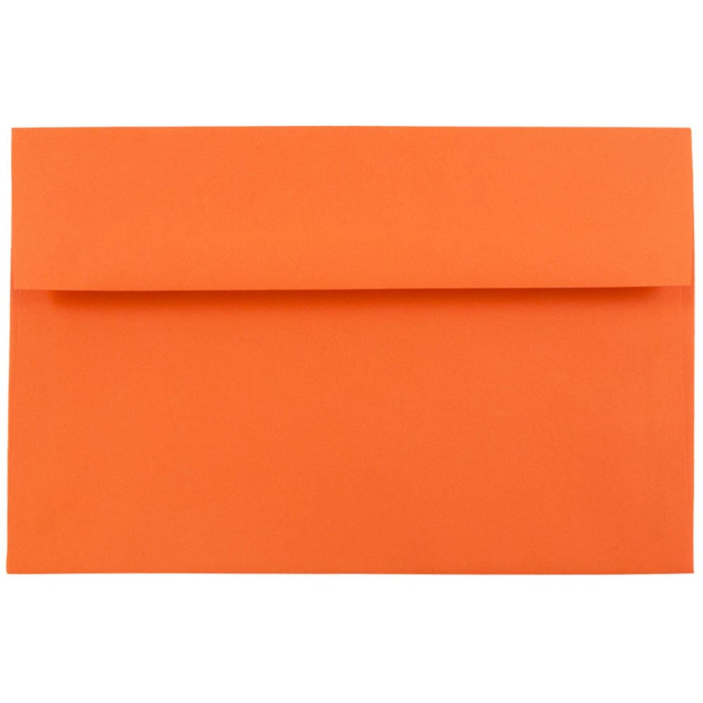 JAM PAPER A8 Colored Invitation Envelopes - 5 1/2 x 8 1/8 - Orange Recycled - 25/Pack