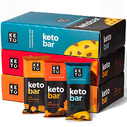 Perfect Keto Bars Bundles - The Cleanest Keto Snacks with Collagen and MCT. No Sugar Added, Keto Diet Friendly - 3g Net Carbs - Keto Diet Food Dessert (Variety flavors, 36 Bars)