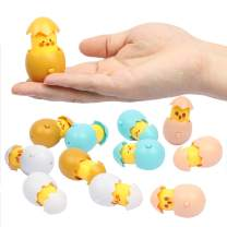 12 pack Easter Surprise Eggs with Pop-Up Emoji Chicks for Kids, Colorful and Cute Toys for Birthday Party Favors, Prizes, Easter Basket Fillers and Egg Hunts, Best for Boys and Girls Age 3+