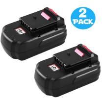 3000mAh PC18B Replacement for Porter Cable 18v Ni-Mh Battery PC18BL PC18BLX PC18B-2PCC489N PCMVC PCXMVC 18-Volt Cordless Tools Batteries 2-Pack