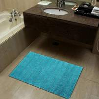100% Cotton Luxury Feel Bathroom Mat | Durable Shower Mat | Extra Absorbent Machine Washable Bath Rug, (Pack of 1-20X32 Inches, Aqua)