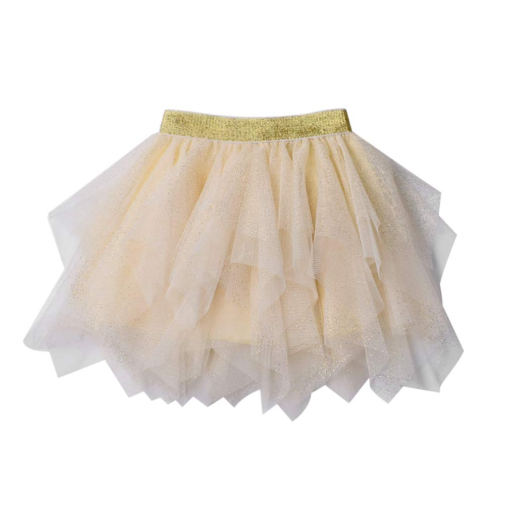 Camii Mia Girl's Layered Tulle Sparkle Tutu Ballet Ballerina Princess Skirt