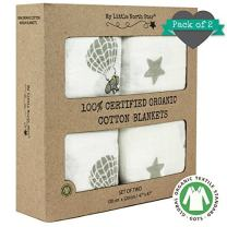 Swaddle Blankets - 100% Organic Cotton - Soft and Hypoallergenic – 2 Pack - Unisex