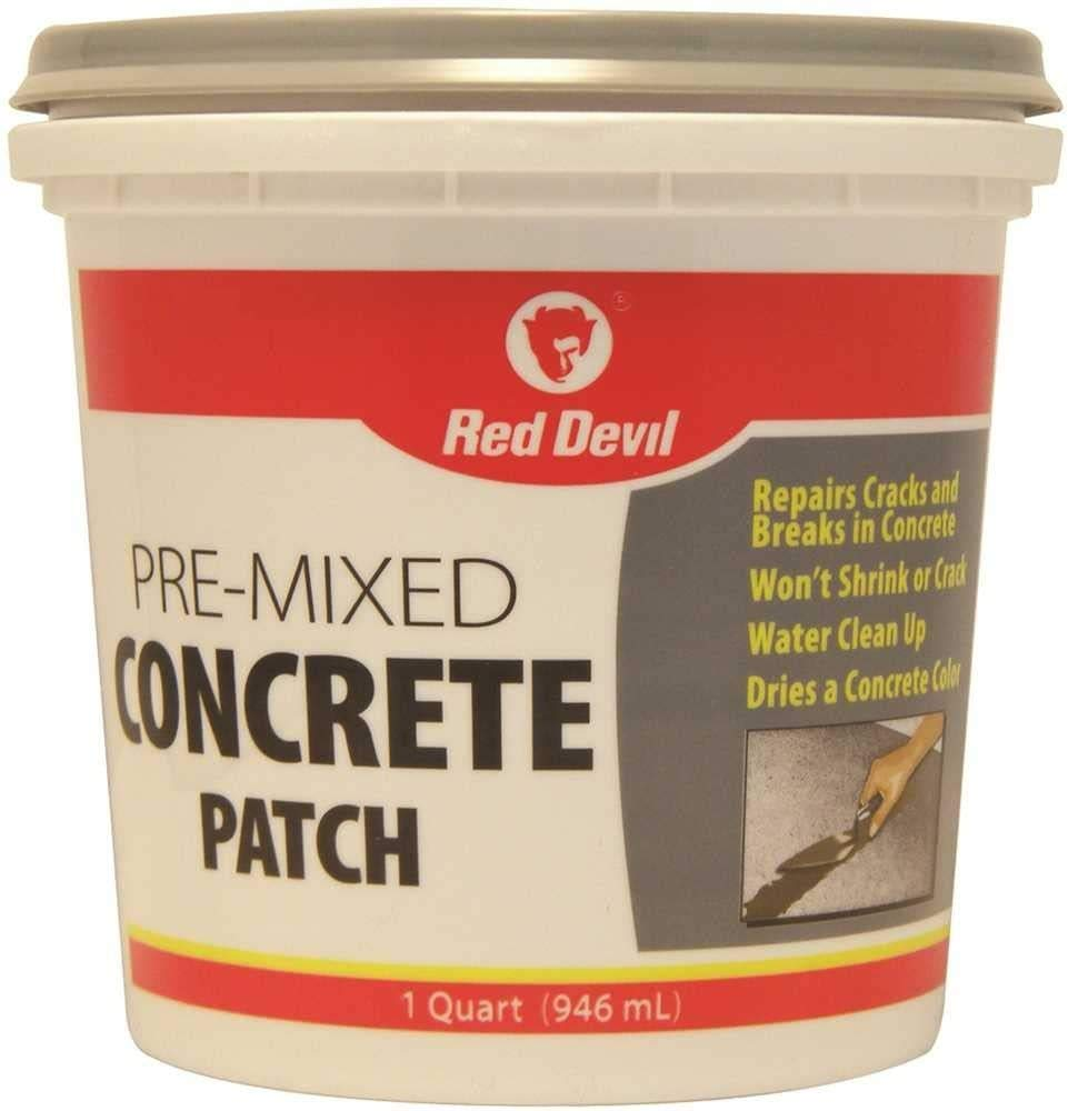 Red Devil 0644 Pre-Mixed Concrete Patch, 1 Quart, Pack of 6, Gray