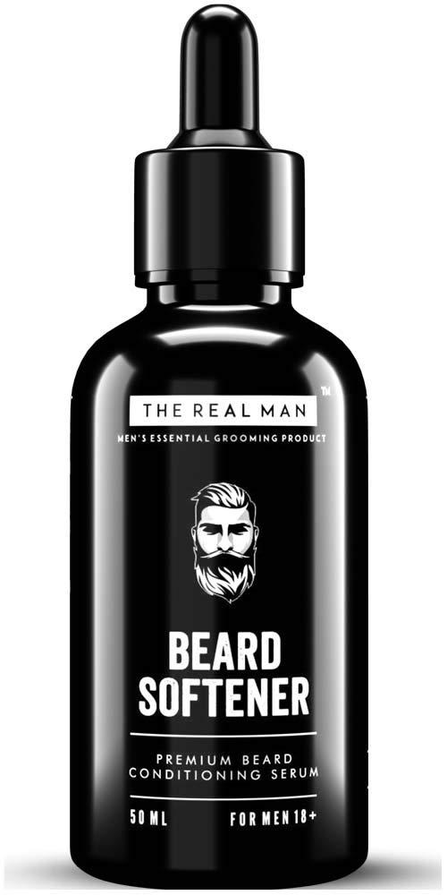 THE REAL MAN All New Beard Softener & Moisturizer for Men 50ml. Conditioner and Softener - Argon Oil | Jojoba Oil| Tea Tree Oil |Vitamin E Acetate | Fragrance - The Best 100% Natural and Organic.