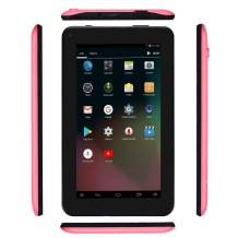 Haehne 7 Inches Tablet PC - Google Android 6.0 Quad Core, 1024 x 600 Screen, 2.0MP 0.3MP Dual Camera, 1G RAM 16GB ROM, 2800mAh, WiFi, Bluetooth (Pink)