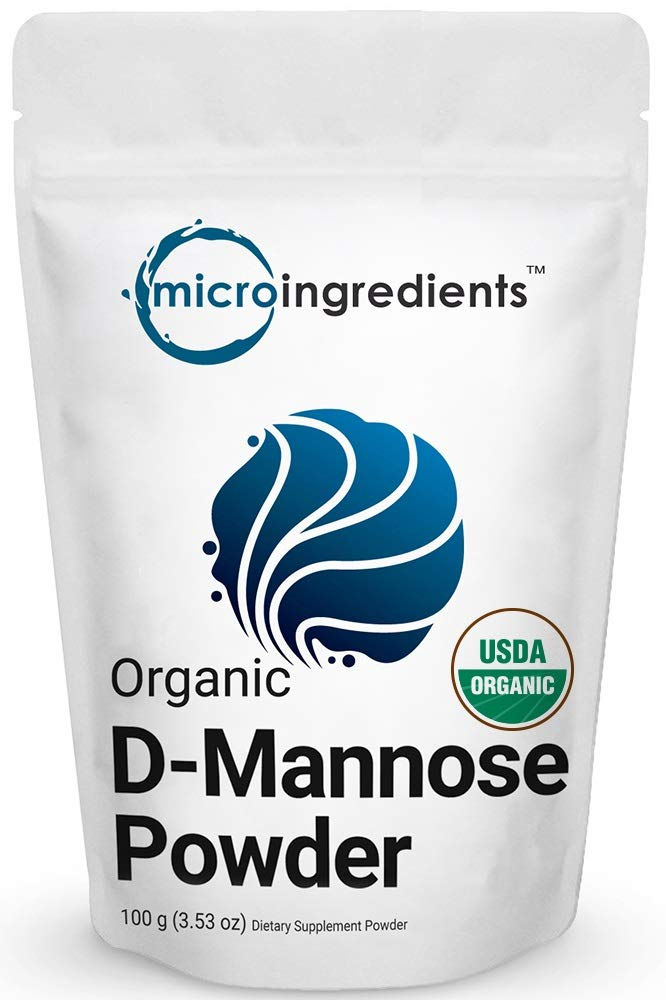 Organic D-Mannose Powder, 100 Grams, Pure Mannose Supplement, Powerfully Support Urinary Tract Cleanse and Bladder Health for Both Men and Women, No GMOs and Vegan Friendly