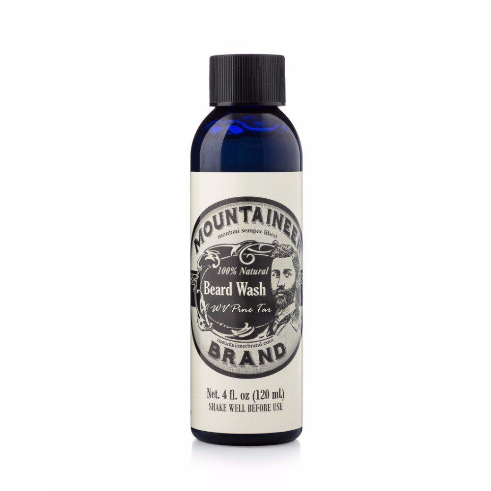 Beard Wash by Mountaineer Brand (4oz) | WV Pine Tar Scent | Premium 100% Natural Beard Shampoo