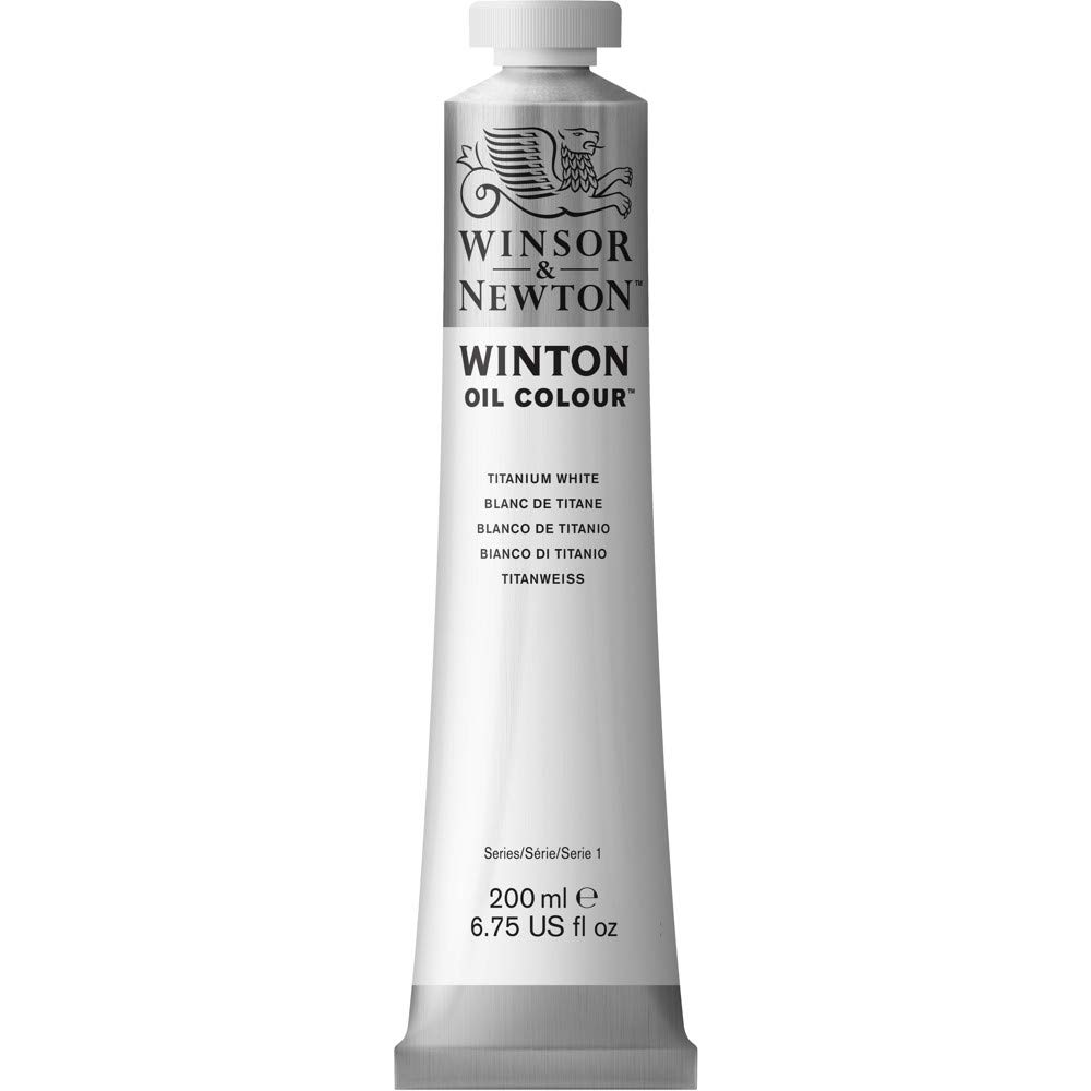 Winsor & Newton Winton Oil Colour Paint, 200ml, Titanium White