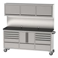 """OEMTOOLS 24615 72"""" 11 Drawer Cabinet and Upper Cabinet 