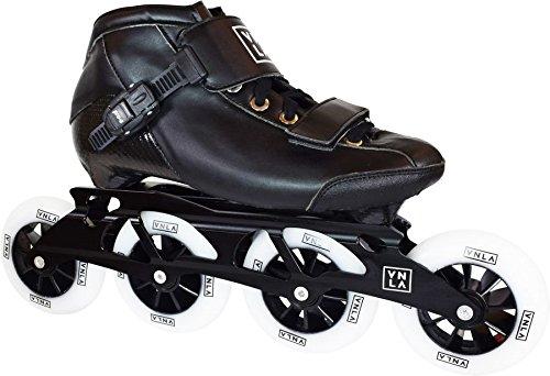 VNLA X1 Roller Skate Blades/Adult Roller Skate Blades Women - Adjustable Inline Skates for Women - Patines Roller Skate Blade - Roller Skate Blades Men (Black)
