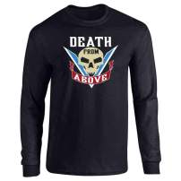 Pop Threads Death from Above Tattoo Halloween Costume Full Long Sleeve Tee T-Shirt
