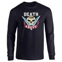 Pop Threads Death from Above Tattoo Halloween Costume Full Long Sleeve Tee T-Shirt