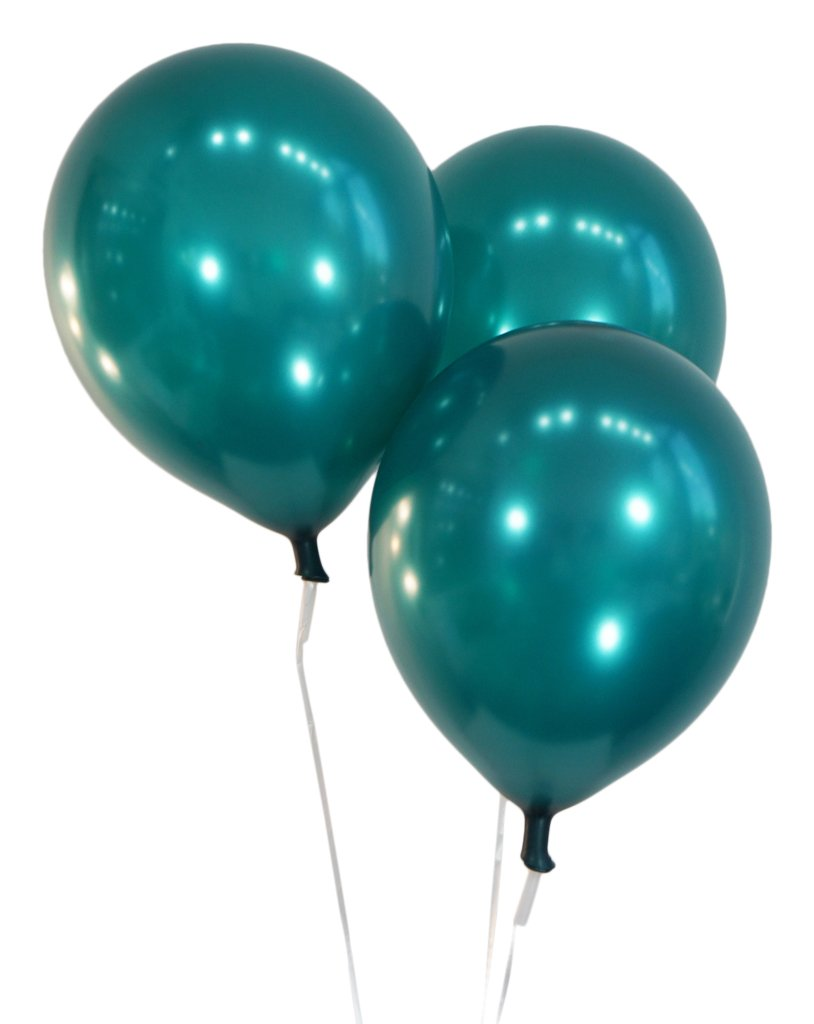 """Creative Balloons 12"""" Latex Balloons - Pack of 100 Pieces - Metallic Teal"""
