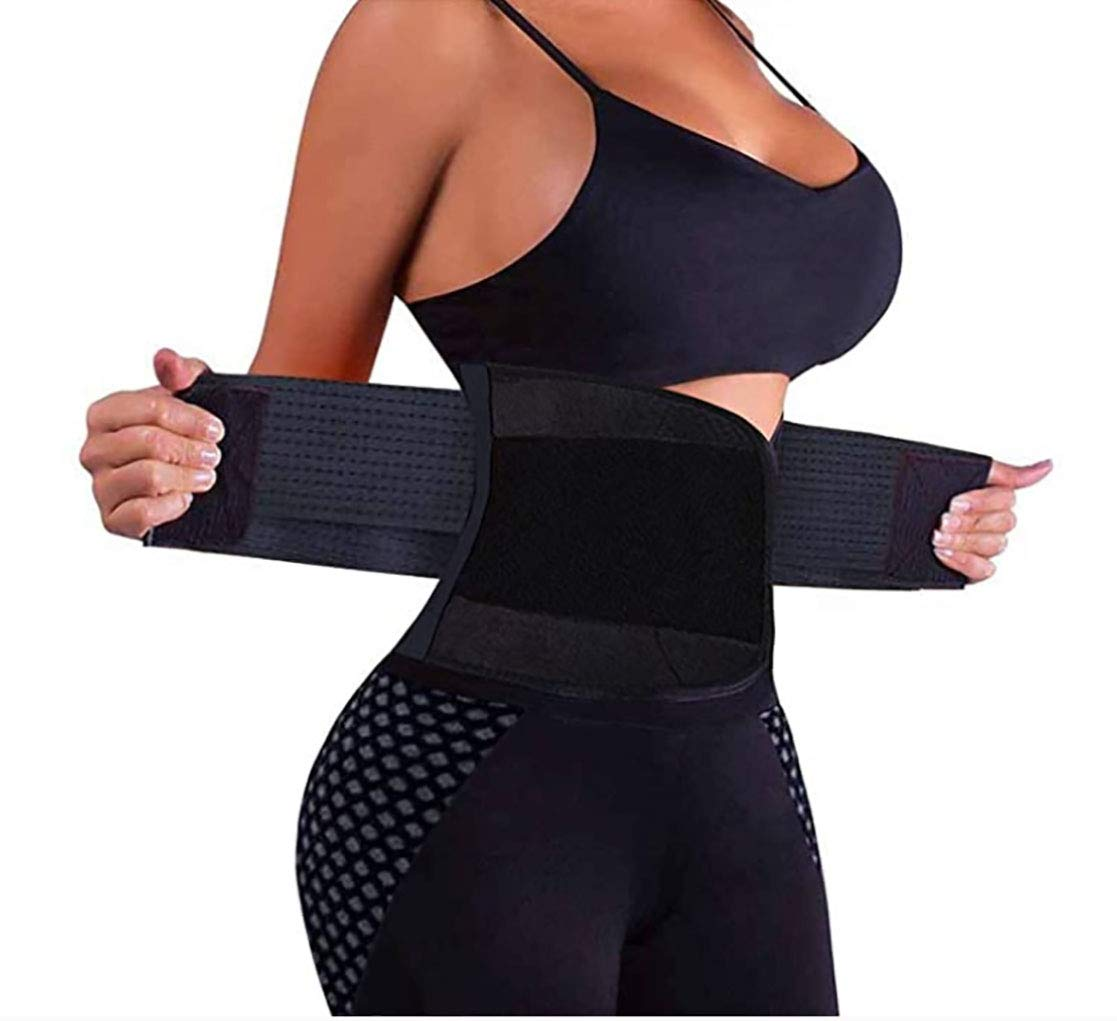 CGBOOM Women Waist Trainer Belt - Slimming Sauna Waist Trimmer Belly Band Sweat Sports Girdle Belt