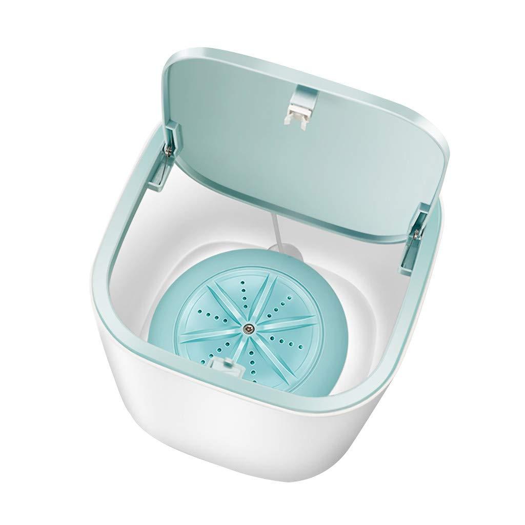 Ultrasonic Turbine Washing Machine,Mini Turbo Portable Washing Machine for Underwear Baby Clothes,USB Powered Travel RV Camping Laundry Washer (Blue)