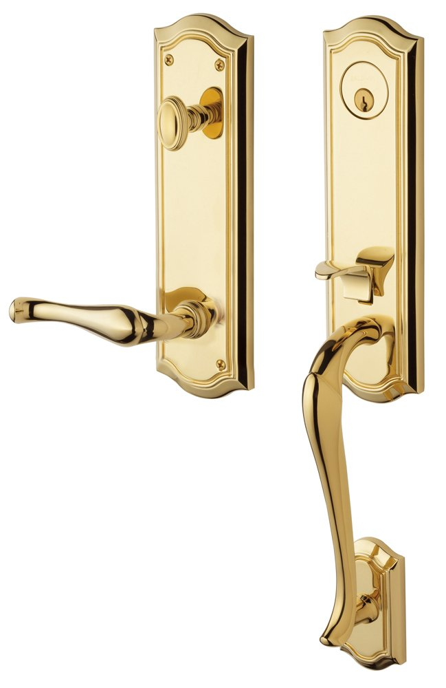 Baldwin 85337.003.Rent Bethpage Emergency Exit Right Hand Handleset with Bethpage Lever, Lifetime Polished Brass