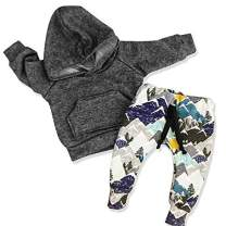 Toddler Baby Boys Oil Print Clothes Long Sleeve Hoodie Tops Sweatsuit + Oil Print Pants Outfits Set 12-18 Months