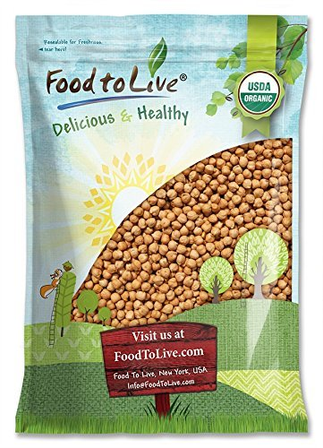 Organic Garbanzo Beans / Dried Chickpeas by by Food to Live (Non-GMO, Kosher, Raw, Sproutable, Bulk) — 10 Pounds