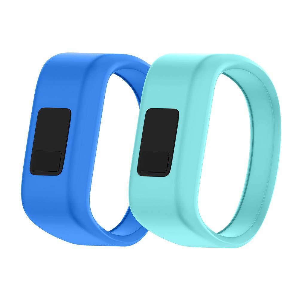 NotoCity Compatible Vivofit JR Watch Band Soft Silicone Replacement Bands for Vivofit JR/Vivofit JR 2/Vivofit 3 Smartwatch (2pcs-1, Large)