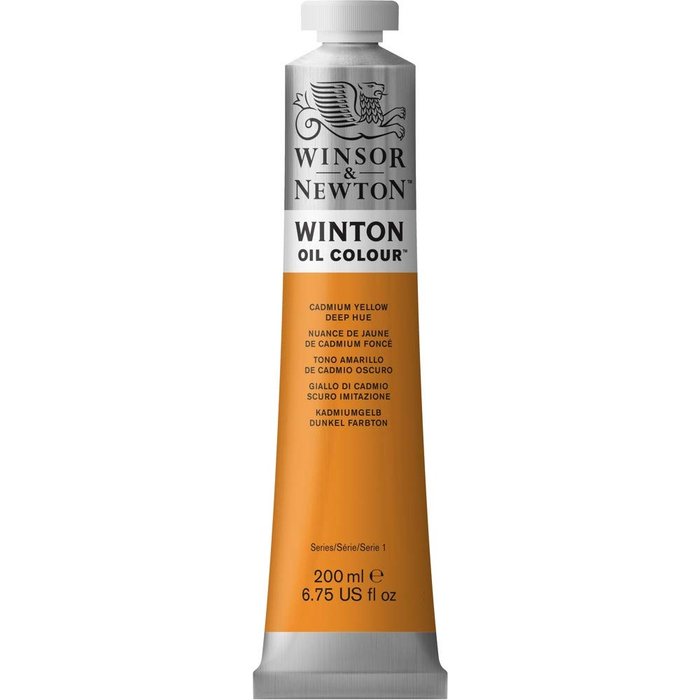 Winsor & Newton Winton Oil Colour Paint, 200ml tube, Cadmium Yellow Deep Hue