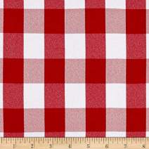 Ben Textiles Picnic Gingham Yarn-Dyed Fabric, Red/White, Fabric by the yard