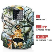 "Olymbros Trail Game Camera 16MP 1080P HD IP65 with Night Vision Motion Activated 110° 20m Detection Range Hunting Scouting Cam Trigger Time 0.6s Wildlife Monitoring with 2.4"" LCD IR LEDs for Outdoor"