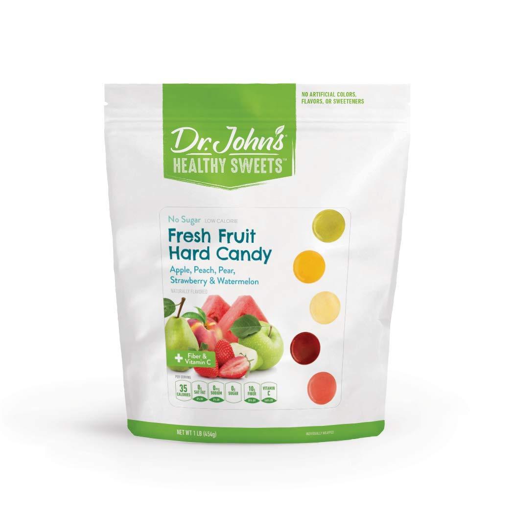 Dr. John's Healthy Sweets Sugar Free Fresh Fruit Hard Candies (1LB)