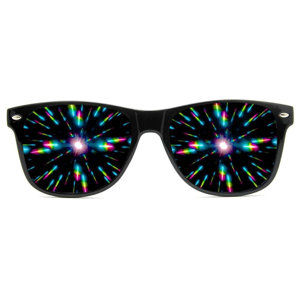 GloFX Ultimate Diffraction Glasses - Matte Black Limited Edition - Rave Eyewear, Ravewear, EDM Festivals, Light Shows, Rainbow Prism Kaleidoscope Refraction Lenses