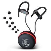 TREBLAB XR800 - Earphones Bluetooth - Secure-Fit IPX7 Wireless Waterproof Earbuds for Running & Workout. Noise Cancelling Sports Headphones (Renewed)