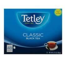 Tetley Black Tea, Classic, 48 Tea Bags (Pack of 12) (Packaging may vary)