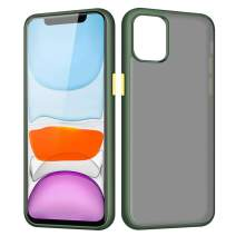 joyroom Matte Case for iPhone 11, iPhone 11 Case Green, Protective Translucent Hard PC Cases Ultra Hybrid Designed [Military Grade Drop Tested] Fully Shockproof Cover