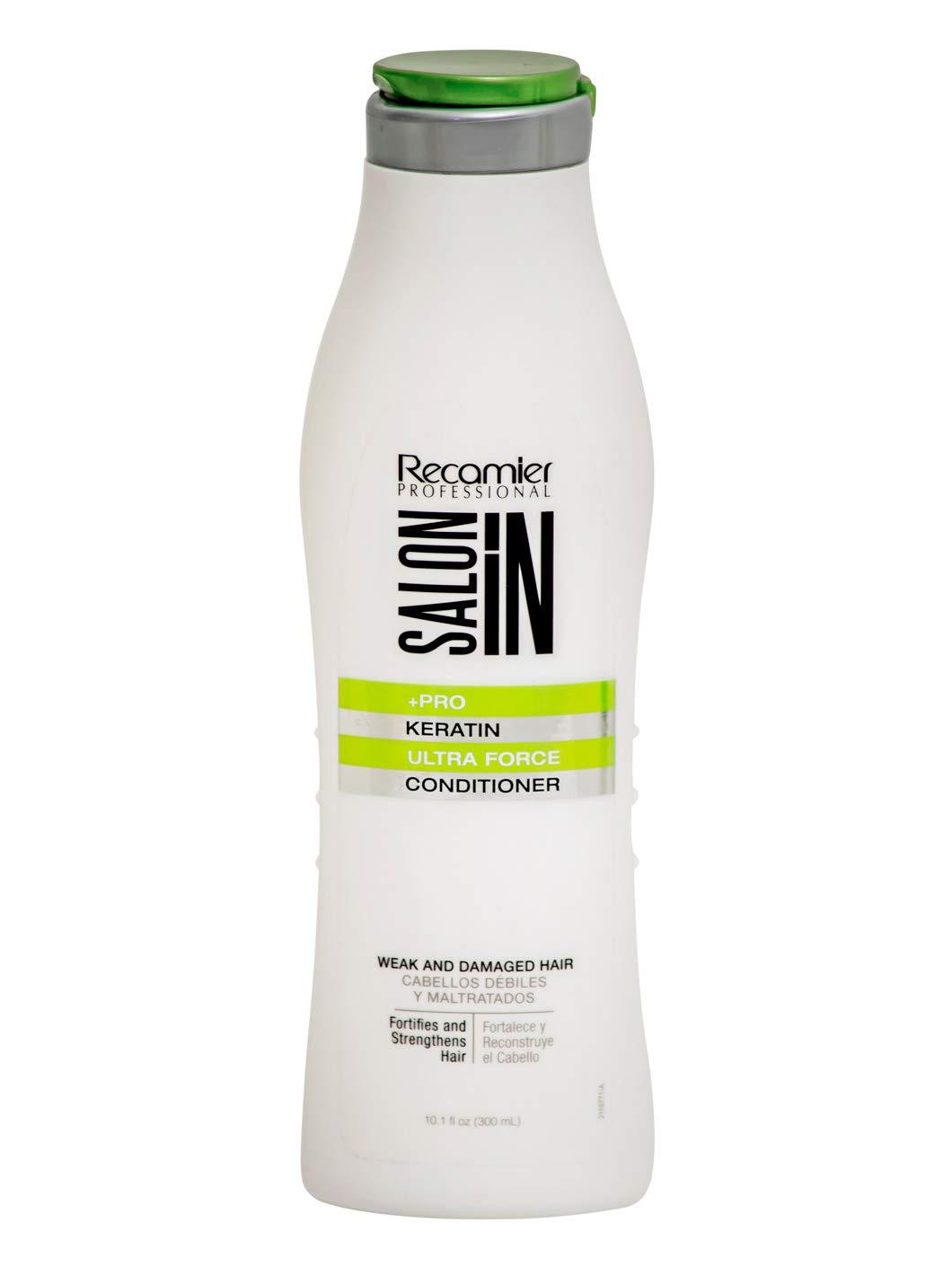 RECAMIER 34356 Professional Salon In Conditioner Keratin Treatment Hair Argan Oil Split End Mender Combing Cream Tratamiento Acondicionador para Cabello Seco y Maltratado con Aceite de Argan 10.1 OZ