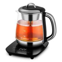 Soulhand Electric Kettle Temperature Control Tea Kettle with Detachable Tea Basket Spray Steam Brew Tea Kettle Auto Shut Off Keep Warm 60mins and Boil–Dry Protection Hot Water Kettle Borosilicate Glass- 52oz/1500ml