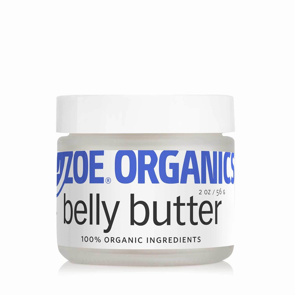 Zoe Organics - Organic Belly Butter, Rich Conditioning Treatment for Stretching Skin During Pregnancy, For Stretch Marks and Supports Skin Elasticity (2 Ounces)