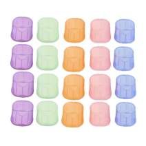 Portable Soap Sheets - 20 Boxes(400 Sheets)Mini Disposable Hand Washing Travel Soap Paper Soap Sheets with Storage Tube for Kids Outdoor Camping Hiking BBQ Toilet School Kitchen (Random Color)
