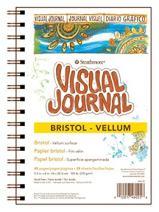 """Strathmore 300 Series Visual Bristol Journal, 5.5""""x8"""" Vellum, Wire Bound, 24 Sheets"""