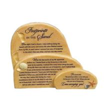 Abbey Gift Footprints in The Sand Sitter Plaque, 7.5 x 6.13 x 1