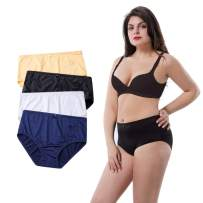 MAOQIN Women's Panties Plus Size Nylon Full Coverage Underwear Stretchy microfiner Briefs