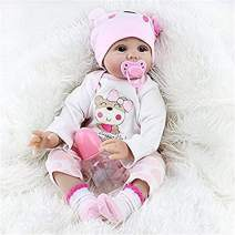 SecretCastle Reborn Baby Doll Reborn Toddlers Girls Soft Body Baby Doll Lifelike Realistic Baby Doll 22 Inch,Weighted Baby Doll, Collect Toys for Ages 3+