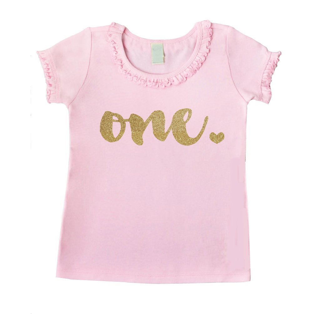 First Birthday Outfit Girl One Year Old 1st Birthday Shirt