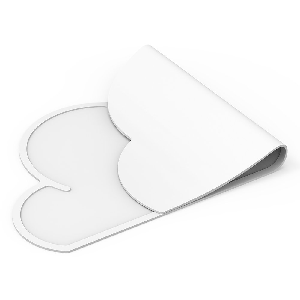 BUTEFO Baby Kid Children Non-Slip Silicone Placemats Place Mats Table Mat Meal Mat (White)