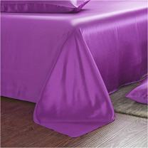Charmesuse Silk Sheets 100% Mulberry Silk Bed Sheet Set 19 Momme (Queen, Fuchsia)